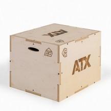 ATX Pliometrična lesena škatla 3 višine v enem (50, 60, in 70cm)