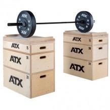 ATX ® WOOD JERK BLOCK SET - KOMPLET LESENIH ŠKATEL ZA VADBO OLIMPIJSKIH DVIGOV IN PLIOMETRIJE