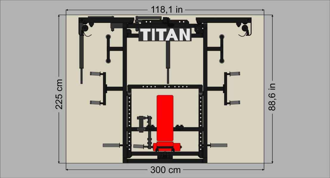 Dimenzije multifunkcijska naprava Titan T1-x
